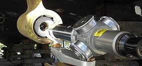 Laser Alignment of Propeller Shaft